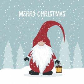 Atvirukai Linksmų Kalėdų - Nykštukas, 6 vnt