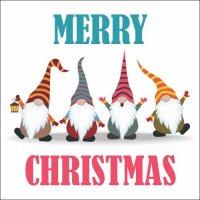 Atvirukas Linksmų Kalėdų - Nykštukai