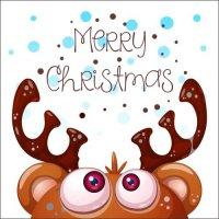 Atvirukas Linksmų Kalėdų - Briedis