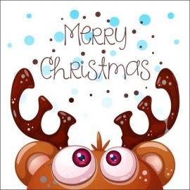 Atvirukai Linksmų Kalėdų - Briedis, 6 vnt