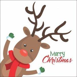 Atvirukai Linksmų Kalėdų - Briedis 002, 6 vnt