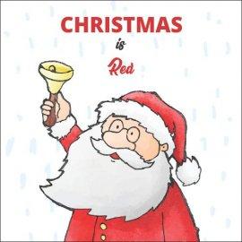 Atvirukai Kalėdos yra raudonos, 6 vnt