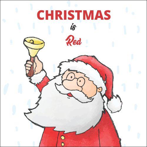 Atvirukas Kalėdos yra raudonos