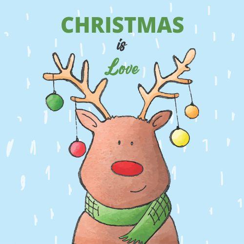 Atvirukai Kalėdos yra meilė, 6 vnt