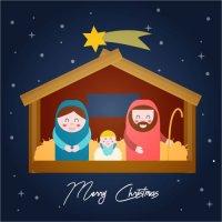 Atvirukas Prakartėlė - Jaukių Kalėdų