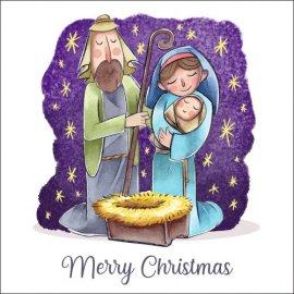 Atvirukai Prakartėlė - Jaukių Kalėdų 002, 6 vnt