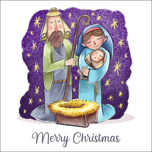 Atvirukas Prakartėlė - Jaukių Kalėdų 002