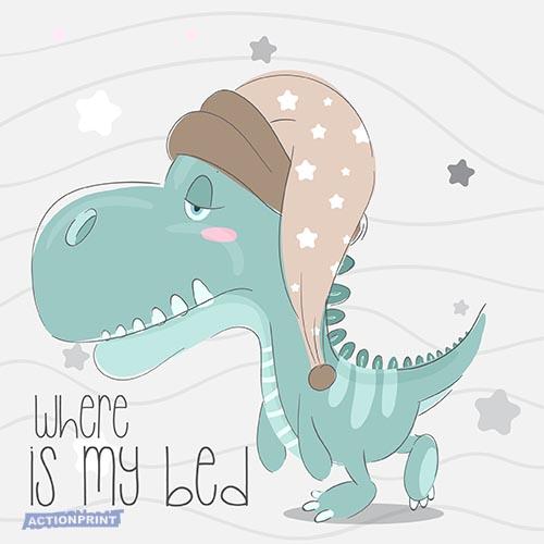 Atvirukas Mielasis mažasis dinozauras, Kur mano lova