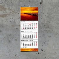 Sieninis kalendorius TRIO trijų dalių su nuplėšiamais lapeliais
