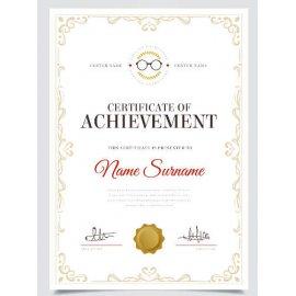 Sertifikatas-diplomas, 20 vnt, Nr. 000001