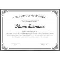Sertifikatas-diplomas, 20 vnt, Nr. 000006