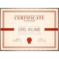 Sertifikatas-diplomas, 20 vnt, Nr. 000008