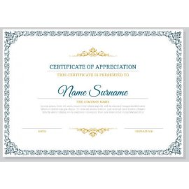 Sertifikatas-diplomas, 20 vnt, Nr. 000010