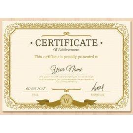 Sertifikatas-diplomas, 20 vnt, Nr. 000012