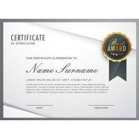 Sertifikatas-diplomas, 20 vnt, Nr. 000014