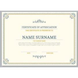 Sertifikatas-diplomas, 20 vnt, Nr. 000017