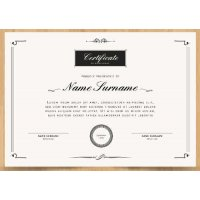 Sertifikatas-diplomas, 20 vnt, Nr. 000018