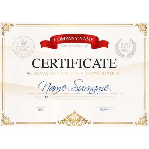 Sertifikatas-diplomas, 20 vnt, Nr. 000024