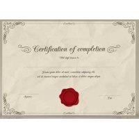 Sertifikatas-diplomas, 20 vnt, Nr. 000026
