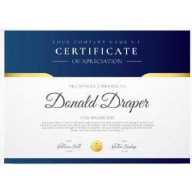 Sertifikatas-diplomas, 20 vnt, Nr. 000027