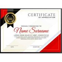 Sertifikatas-diplomas, 20 vnt, Nr. 000028