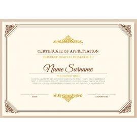 Sertifikatas-diplomas, 20 vnt, Nr. 000034
