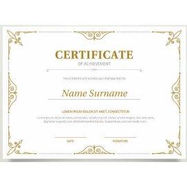 Sertifikatas-diplomas, 20 vnt, Nr. 000036