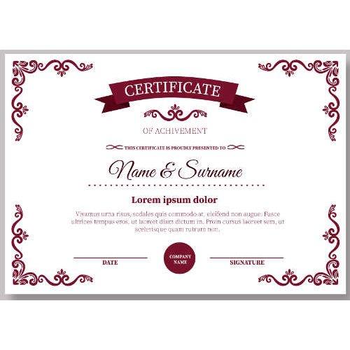 Sertifikatas-diplomas, 20 vnt, Nr. 000038