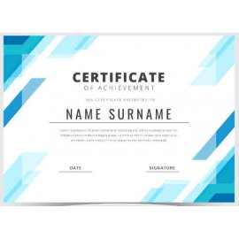 Sertifikatas-diplomas, 20 vnt, Nr. 000043