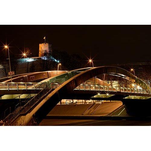 Drobė horizontali Karaliaus Mindaugo tiltas, Vilnius, Lietuva