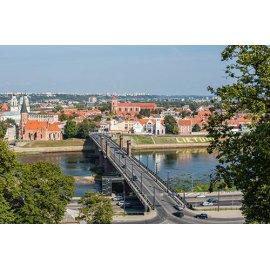Drobė horizontali Vytauto didžiojo tiltas, Kaunas, Lietuva