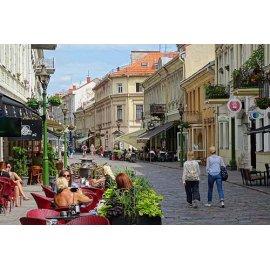 Drobė horizontali Vilniaus gatvė, Kaunas, Lietuva