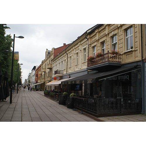 Drobė horizontali Kauno Laisvės alėja, Kaunas, Lietuva