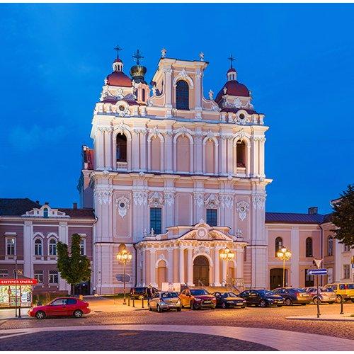 Drobė kvadratinė Šv. Kazimiero bažnyčia, Vilnius, Lietuva