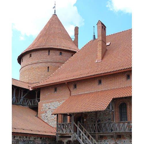 Drobė kvadratinė Trakų pilis, Trakai, Lietuva