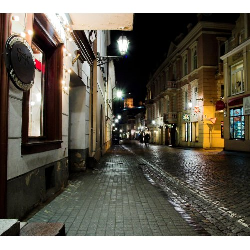 Drobė kvadratinė Pilies gatvė, Vilnius, Lietuva