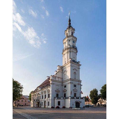 Drobė vertikali Kauno rotušė, Kaunas, Lietuva