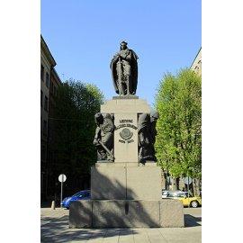 Drobė vertikali Vytauto Didžiojo paminklas, Kaunas, Lietuva