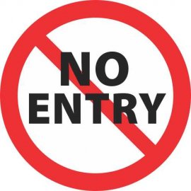 Lipdukas No entry