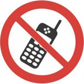 Lipdukas Draudžiamas mobilus ryšys