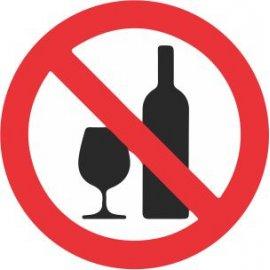 Lipdukas Draudžiama gerti alkoholį
