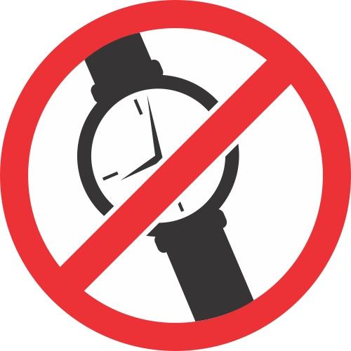 Lipdukas Draudžiami laikrodžiai