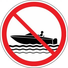 Lipdukas Draudžiama plaukti valtimi