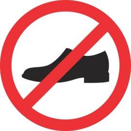 Lipdukas Draudžiama avėti lauko batus