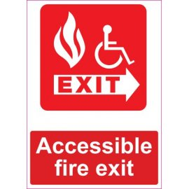 Lipdukas Accessible fire exit