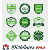 16 vnt, Etiketės-lipdukai Natūralus, Kokybiškas, Šviežias