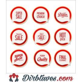 16 vnt, Etiketės-lipdukai Super Sale, Premium Choice, Hot price, Final Clearance