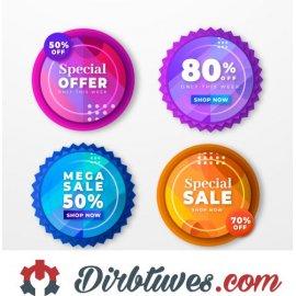 16 vnt, Etiketės-lipdukai Special Offer, Shop now, Mega Sale, Special Sale