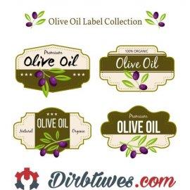 16 vnt, Etiketės-lipdukai Premium Olive Oil