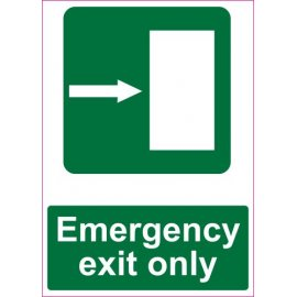 Lipdukas Emergency exit only